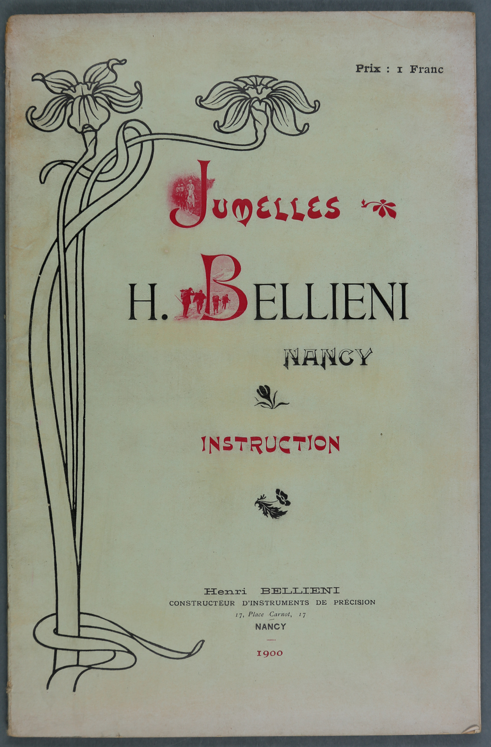 Le manuel d'instruction des jumelles Bellieni