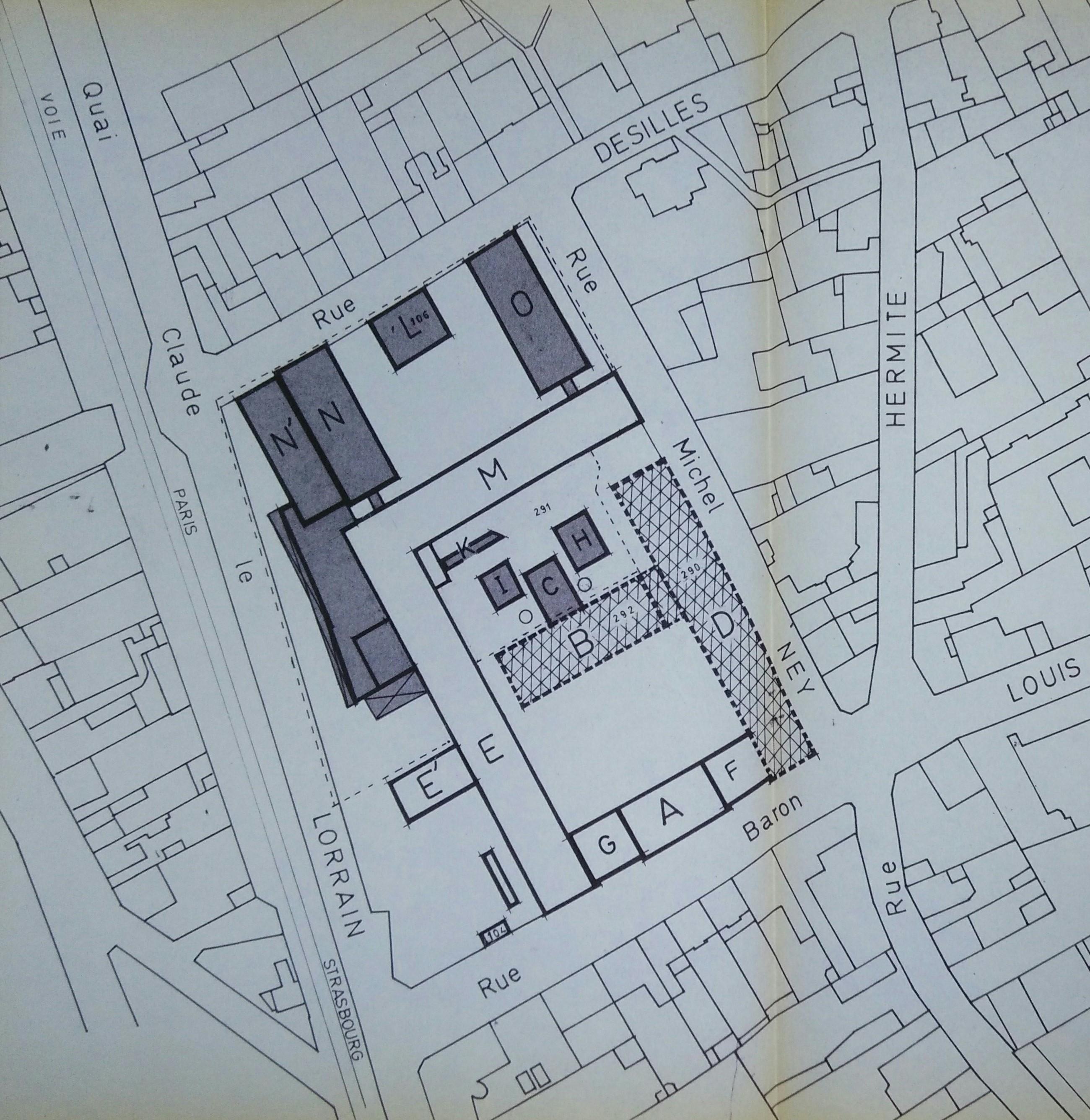 Plan de masse de 1987