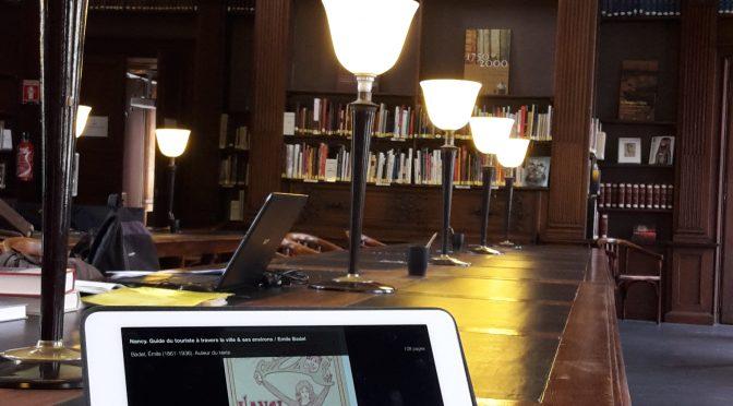 Application Gallica sur tablette en accès libre