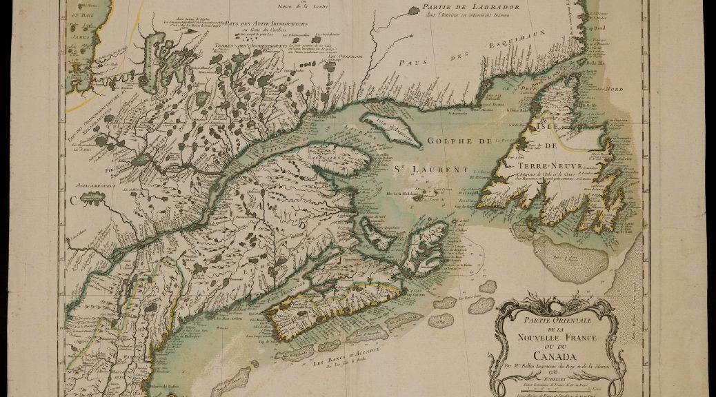 Partie orientale de la Nouvelle France ou du Canada. Par M. Bellin, Ingénieur du Roy et de la Marine