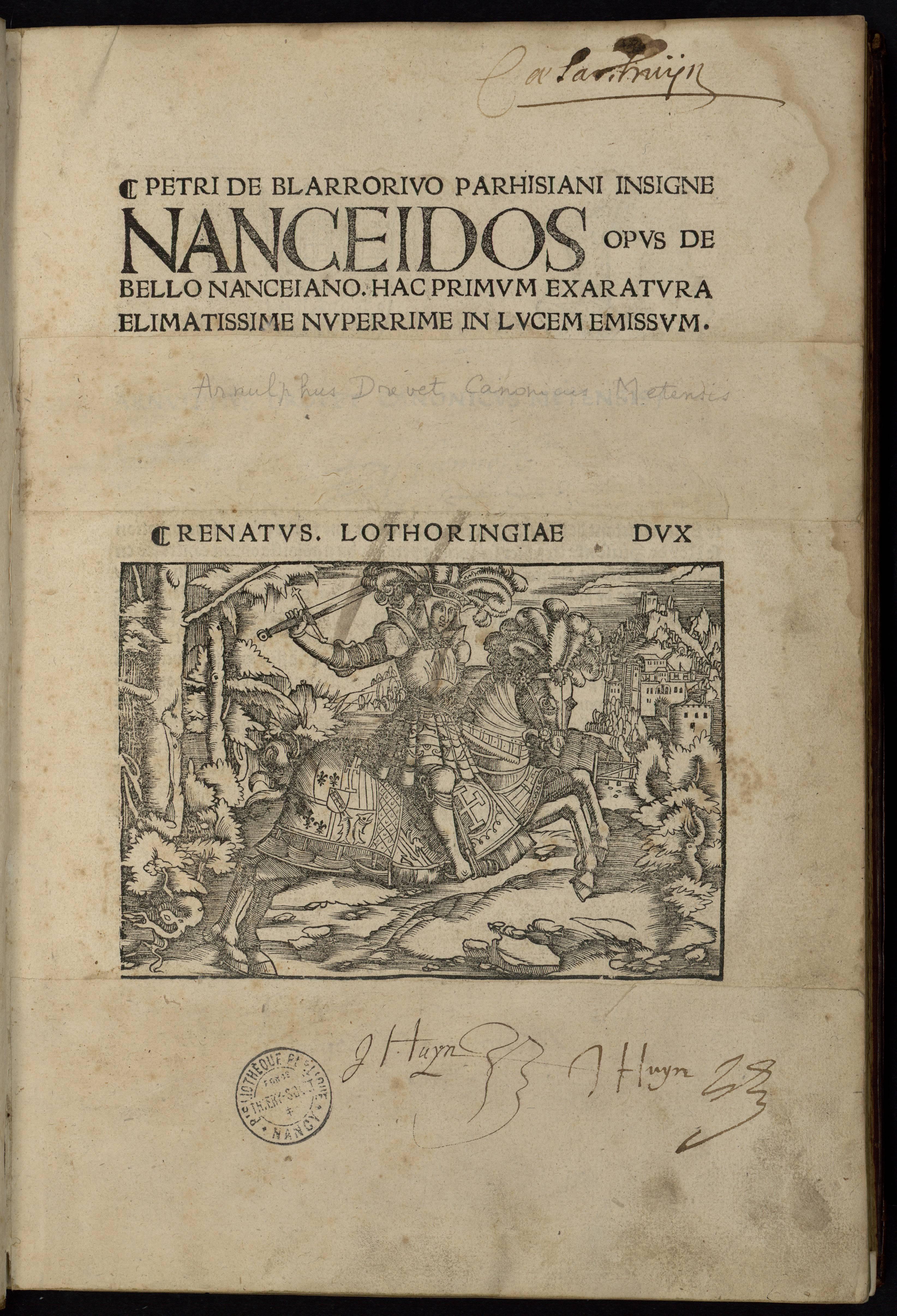La Nanceide de Pierre de Blaru