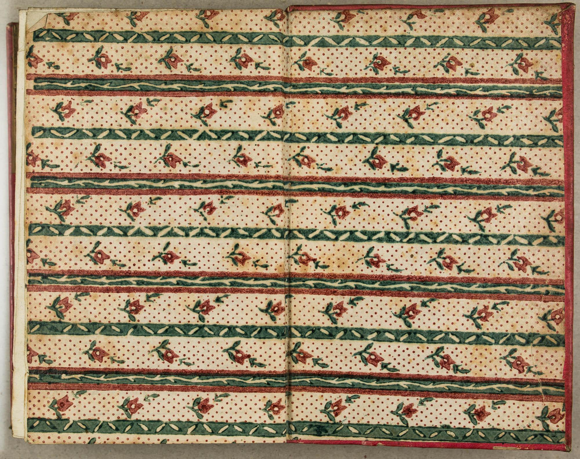 Impression en rouge, puis en vert. Premières années du XIXe s.