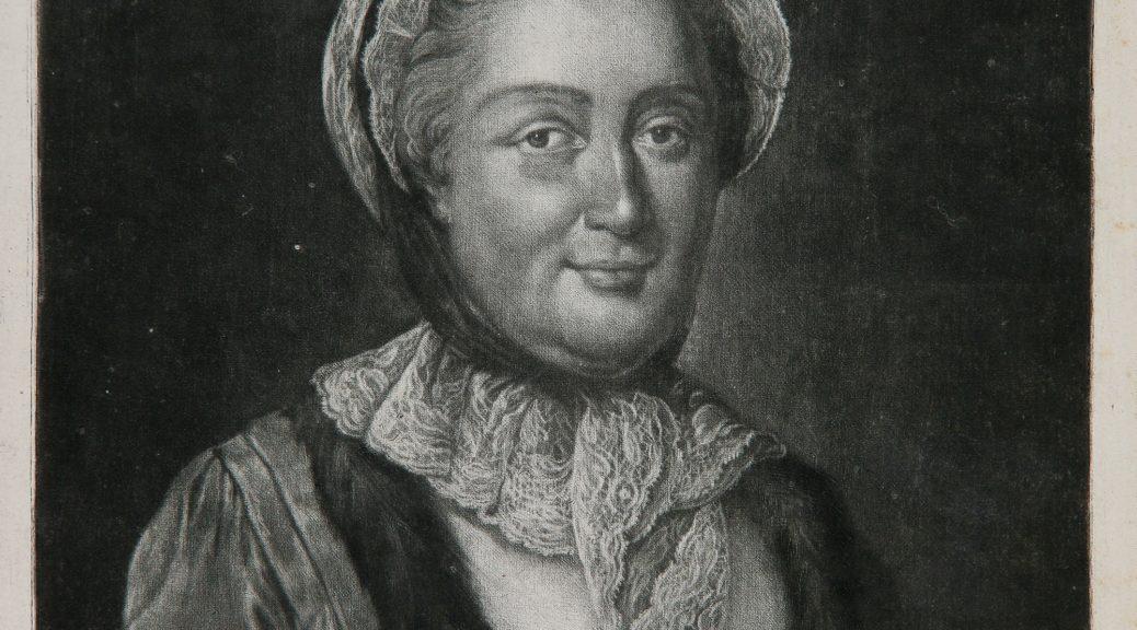 Portrait de Mme de Graffigny; Par D'Agoty d'après Garand.