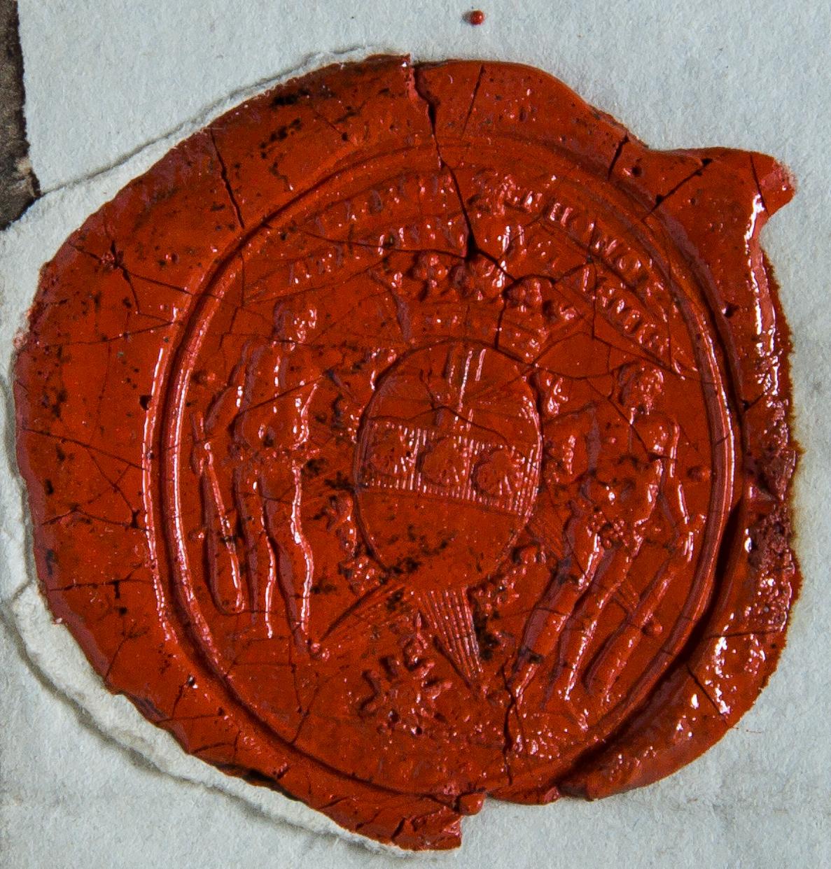 Cachet de cire rouge aux armes de Tressan sur lettre autographe au Président de Sivry, 6 juillet 1783. (Ms. 1711 (b))