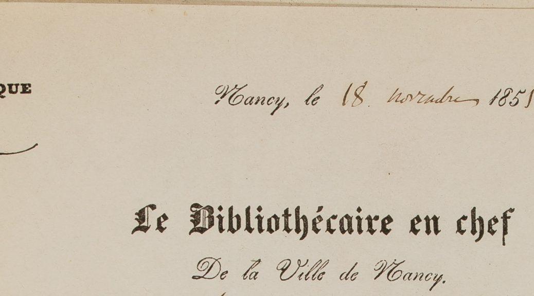 En-tête de lettre de Soyer-Willemet