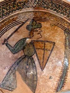 Chevalier croisé, Acre, XIIIe siècle. Museum of Israel (Jérusalem, Israël). Photo de Nick Thompson  sous licence CC BY 2.0