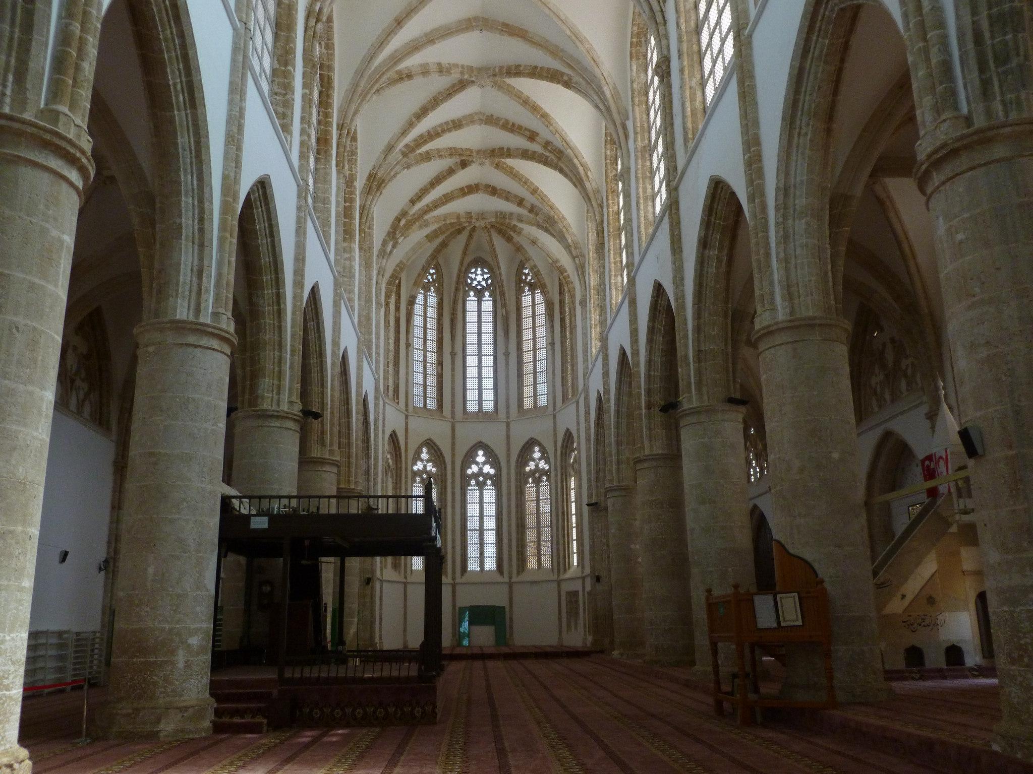 Mosquée Lala Mustapha Pacha (ancienne cathédrale Saint-Nicolas), Famagouste (Chypre).