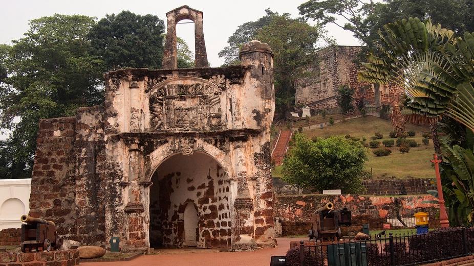 Ruines du fort Formosa, Malacca (Malaisie), photo de Skittledog sur Flickr, 2011
