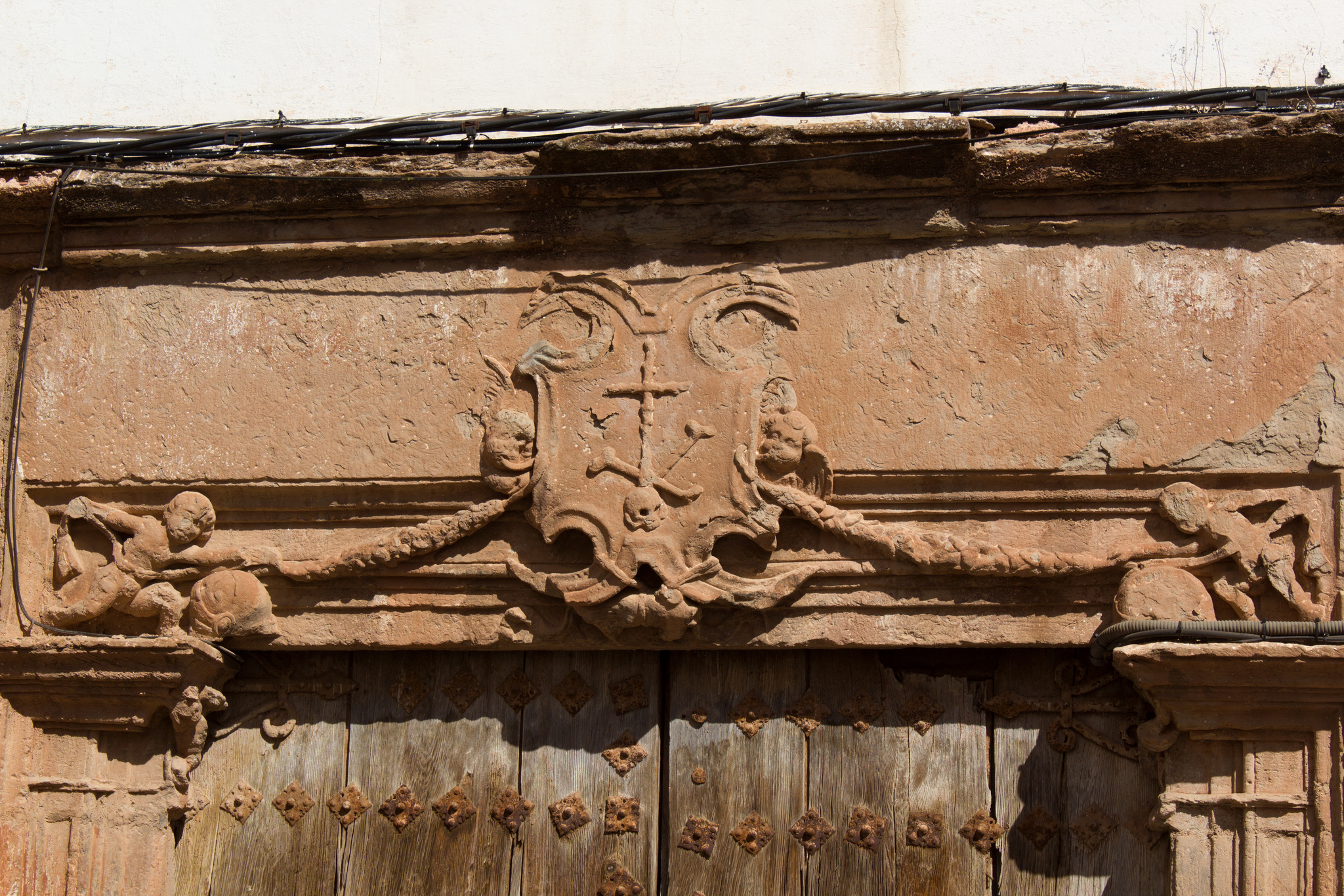Porte du tribunal de l'Inquisition Villanueva de los Infantes (Espagne), photo de Rafa sur Flickr, 2012. https://www.flickr.com/photos/61305266@N02/