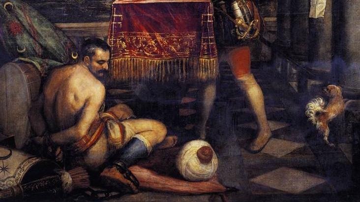 Titien, Philippe II offre l'Infant Ferdinand à la Victoire (avant 1575) Musée du Prado, Madrid (Espagne)