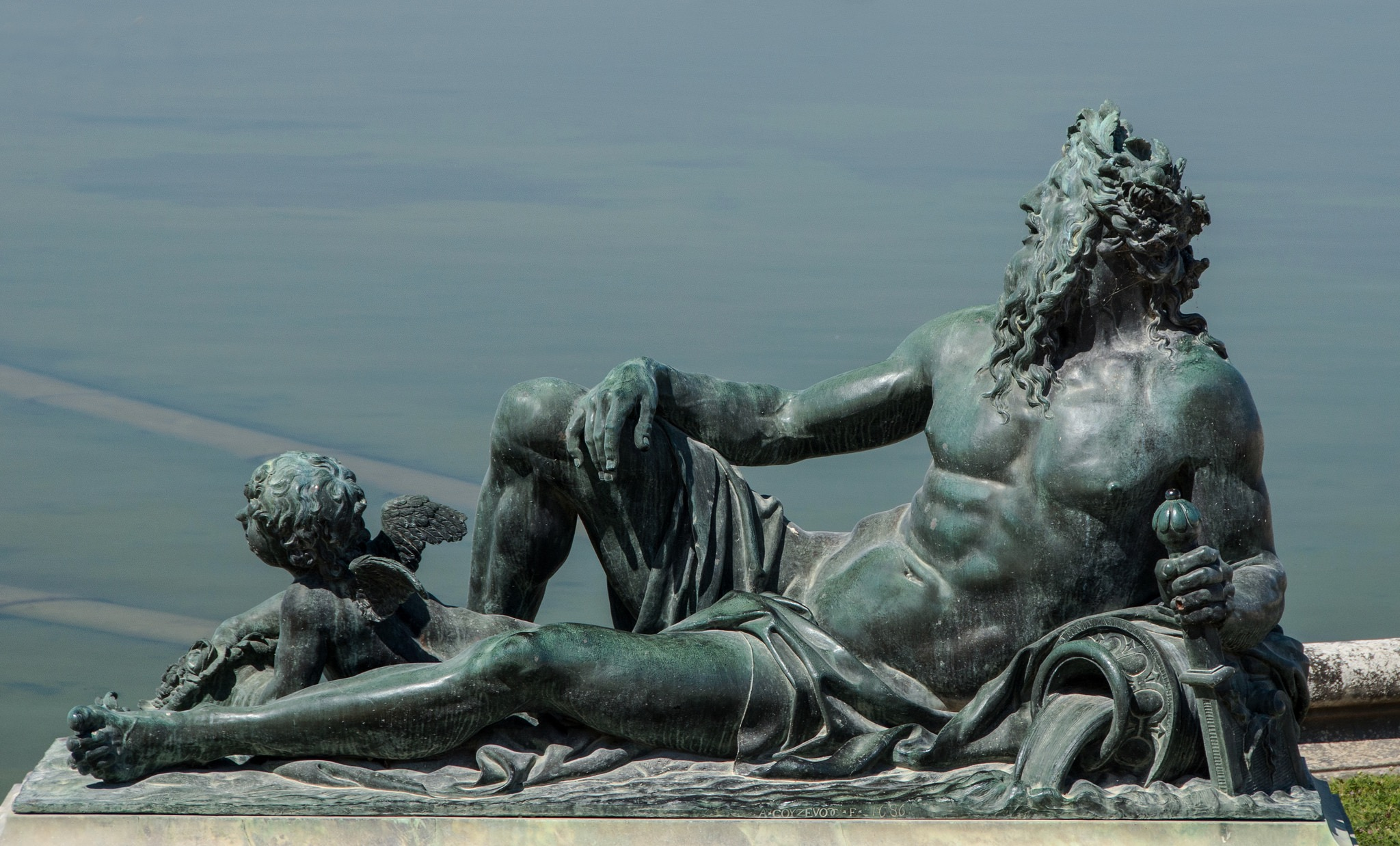 Neptune. Château de Versailles (France), 2012, photo de Bastiaan_65 sur Flickr
