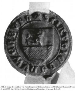 Siegel des Matthias von Neuenburg