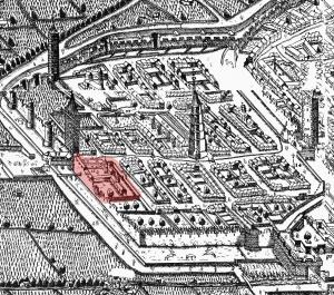 Freiburg_im_Breisgau_(Sickinger_1589)_Ausschnitt_Neuburg_markiert