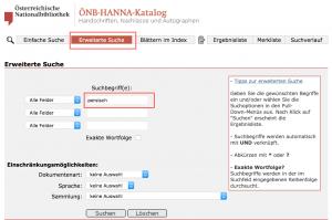 ONB-HANNA-Katalog (recherche)
