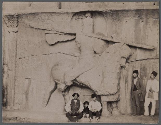 Le cataphractaire, photo d'époque qajare.
