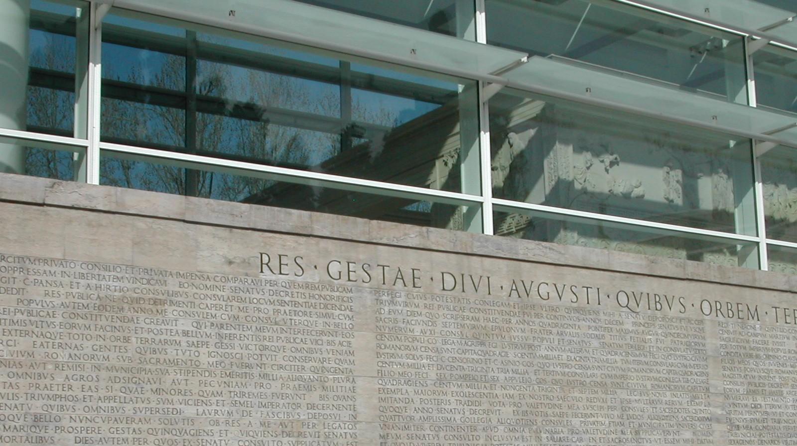 Inscriptions romaines 2 res gestae le rapport moral - Res gestae divi augusti ...