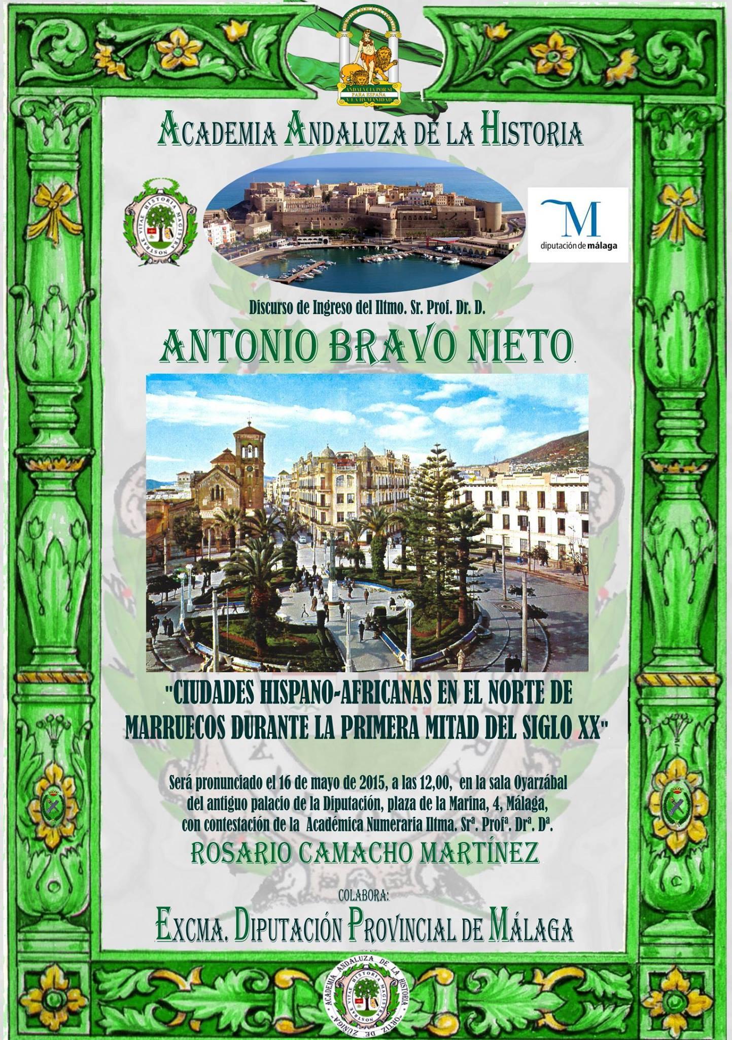 Antonio Bravo ingreso Academia de la Historia