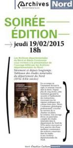 Tableaux des études notariales du département du Nord, XVIe-XXIe siècles (19 février 2015, Lille)