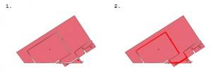 shapefile test_1 avant (1) et après  (2) la vérification de sa topologie