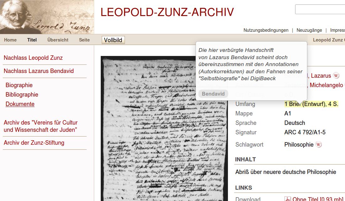 leopold zunz In 1818, with a single essay of vast scope and stunning detail, leopold zunz launched the turn to history in modern judaism despite unending setbacks.