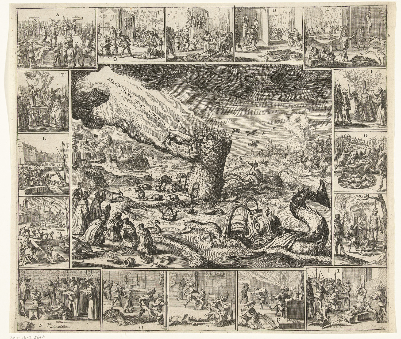 Dutch print 30 years war 1630