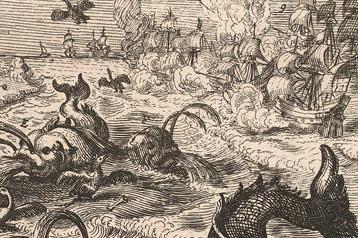 Dutch print_sea monster_detail