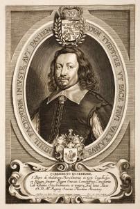 "Schering Rosenhane, portrait published in ""Hommes Illustres"" by Anselmus van Hulle, after 1647, (c) public domain, Wikimedia"