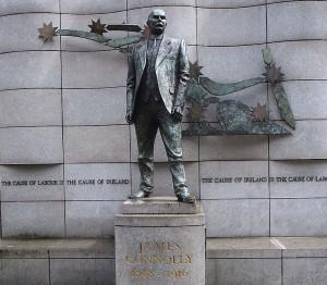 Denkmal für James Connolly, Gewerkschaftsführer und Unabhängigkeitskämpfer, hingerichtet 1916
