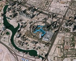 Image de Downtown Dubai produite à partir de données Pléiades (Copyright ESA, 2012)