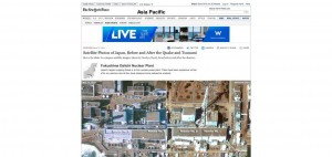 """Satellite Photos of Japan, Before and After the Quake and Tsunami"", NYT, 15 mars 2011"