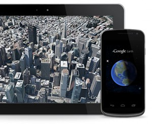 Application Google Earth sur Android