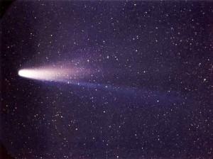 Comète de Halley, mars 1986 (crédits : NASA/W. Liller)