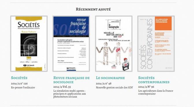 La position de la revue Sociétés dans l'espace discursif de la sociologie française