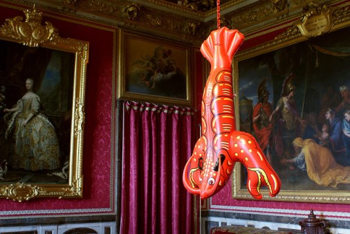 Jeff Koons, Lobster (2003) (crédits : Marc Wathieu, 2008, via Flickr)
