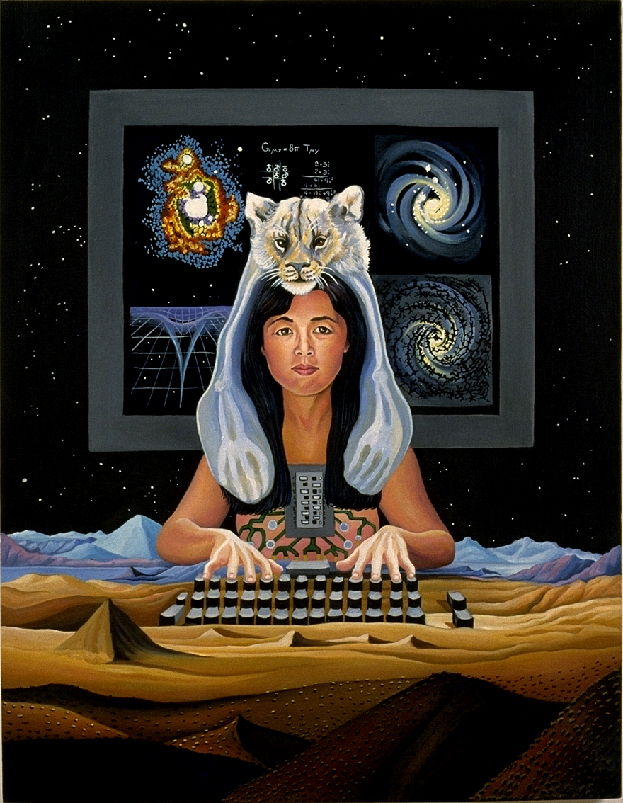 """Modest Witness: A Painter's Collaboration with Donna Haraway"", par Lynn Randolph (source/crédits : http://www.lynnrandolph.com/ModestWitness.html)"