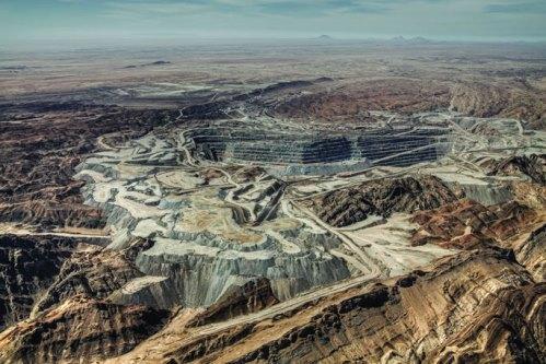 Le charme discret de l'extraction minière. Ici, la mine de Rössing, s. d., en Namibie (source : http://www.rossing.com/riotinto.htm)