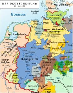 """""""Karte des Deutschen Bundes 1815–1866"""", CC-BY"""
