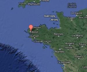 Situation géographique du port de Brest