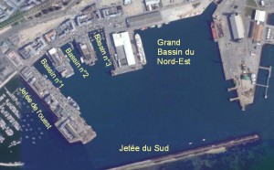 Le port de commerce sur le site de Porstrein