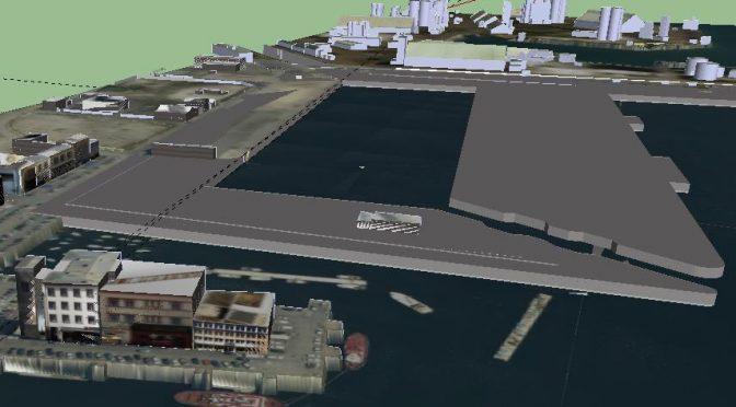Projet d'un bassin à flot dans le port de Brest.