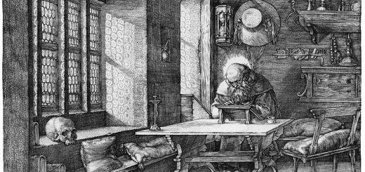 Hieronymus im Gehäus (Albrecht Dürer, [Public domain], via Wikimedia Commons)