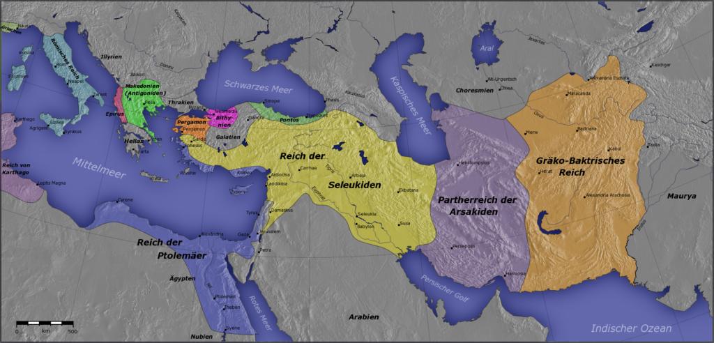 Die hellenistische Welt um 200 v. Chr.