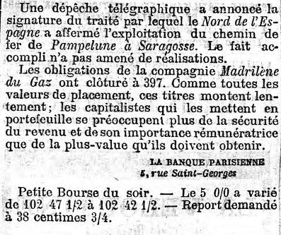 Conclusion de la rubrique boursière du Figaro du 1er avril 1875.
