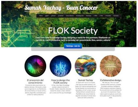 Page d'accueil du projet FLOK.