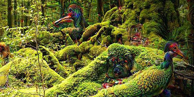 """Une création des """"rêves profonds"""" : des oiseaux-arbres…"""
