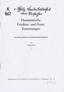 Humanistische Erinnerungen 1