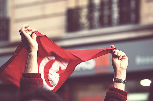 Protest tunisia by Gwenaël Piaser sur Flickr