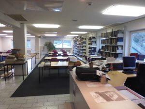 Der Lesesaal des Landesarchivs Saarbrücken