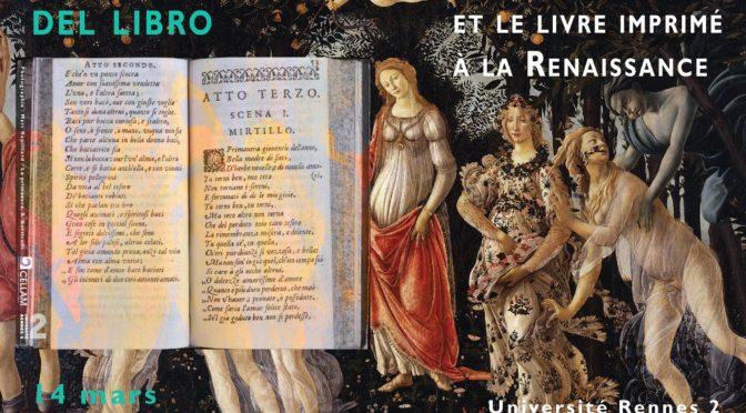 """EDITEF et l'exposition """"La Primavera del libro. Les Italiens et le livre imprimé à la Renaissance"""""""
