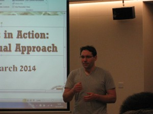 Laurent Prevot launching the Workshop (Introductive Session)
